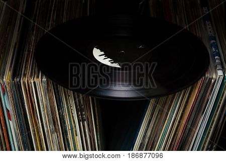 Records vinyls gramophone records covers collection close up music album