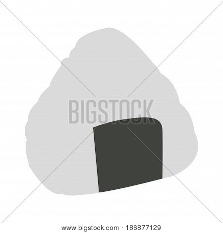 Isolated onigiri on a white background, Vector illustration