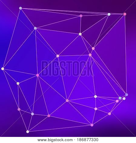 Modern Abstract Background Triangles 3D Effect Glowing Light99