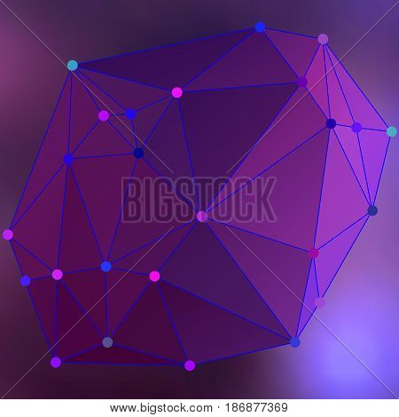 Modern Abstract Background Triangles 3D Effect Glowing Light102