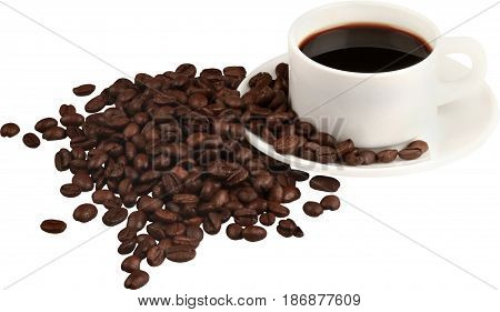 Coffee coffee beans isolated cup of coffee coffee cup hot drink caffeine