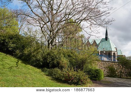 The Magdalenen Chapel in the old town of Magdeburg