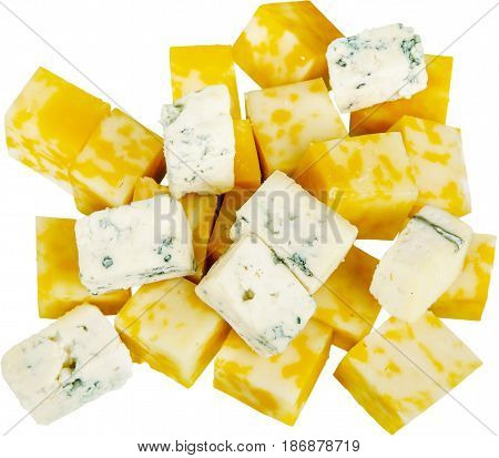 Cheese cheese piece cheese wedge slices cubed snacks colby-jack cheese