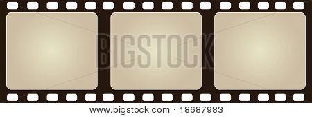 Computer designed negative film frame