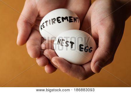 Retirement nest egg eggs finance finances retirement plan savings