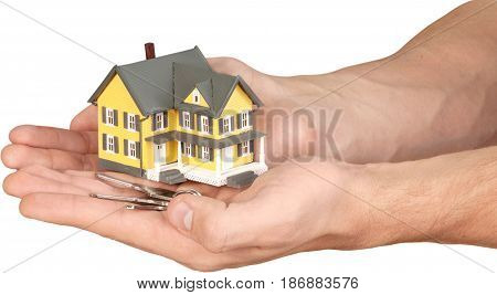 Concept house model real estate household insurance insurance building insurance homeowners insurance