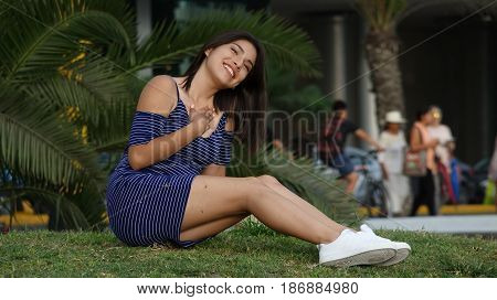 Happiness And Joy and Sitting on Grass