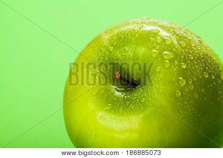 Apple healthy lifestyle food fruit snack green apple close-up