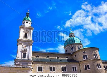 The church of Peter at Salzburg, Austria at sunny day