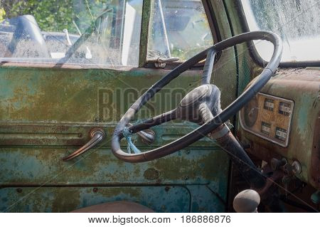 Detail of an old pick up truck in rural Virginia