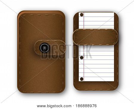 brown notebook with space for scripture on a piece of paper