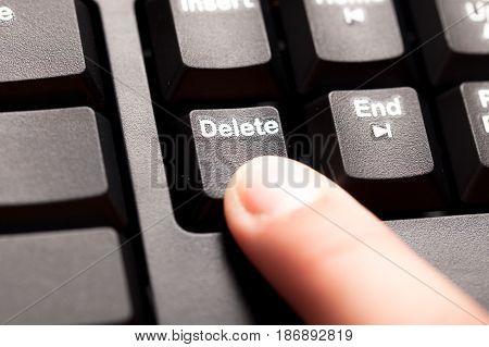 Computer keyboard computer keyboard pressing button close-up pc peripheral