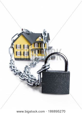 Padlock real estate credit house lease loan mortgage lending