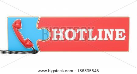 Hotline concept 3D rendering isolated on white background