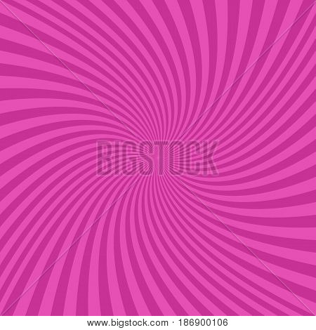 Pink abstract spiral design background - vector graphics