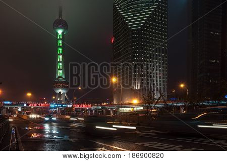 Shanghai, China - 2012.11.25: The view of the TV tower