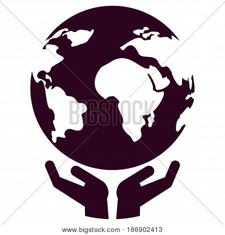 World In Hand Icon