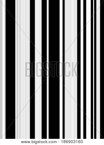 Vertical black and white stripe pattern