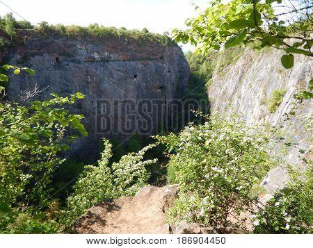 Former Quarry Amerika In Czech Landscape