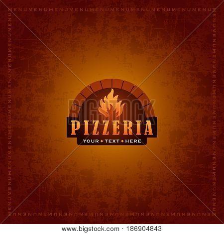 Menu cover design for pizzeria  - vector template