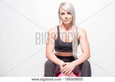 Athletic Looking Blonde Female