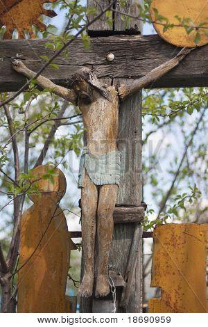 Very Old Christian Cross.