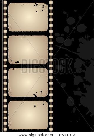 Editable vector grunge film frame background with space for your text