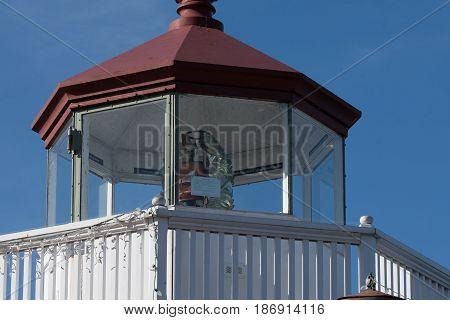 Fresnel lens in Mukilteo Lighthouse, Mukilteo, WA