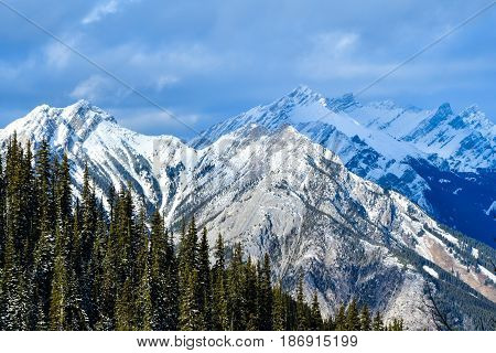 Canadian Rockies from Banff Gondola, Alberta, Canada