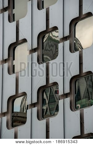 Noble metal and mirror glass frontage storefront
