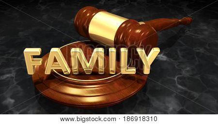 Family Law Concept 3D Illustration