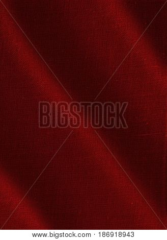 Red fabric. Fabric background, fabric texture. Red background.