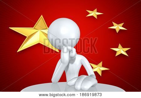 The People's Republic Of China Concept With The Original 3D Character Illustration