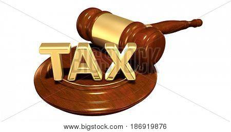 Tax Law Concept 3D Illustration