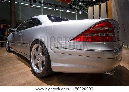 STUTTGART GERMANY - MARCH 03 2017: Large luxury grand tourer car Mercedes-Benz CL 55 AMG