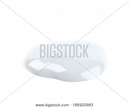 Puddle of paint isolated over the white background
