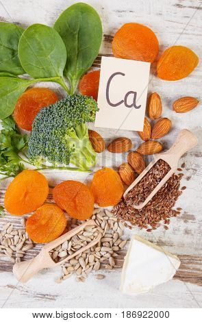Ingredients Containing Calcium And Dietary Fiber, Healthy Nutrition