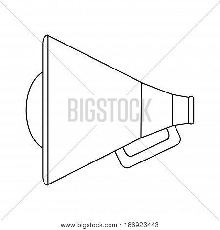loudspeaker or megaphone icon image vector illustration design  single black line