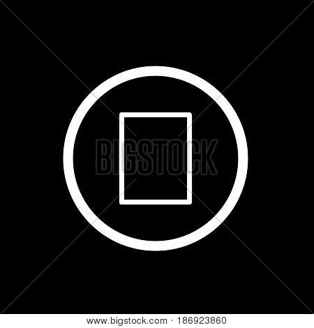 stop button. vector icon in linear style isolated on black. Audio or video icon. eps 10