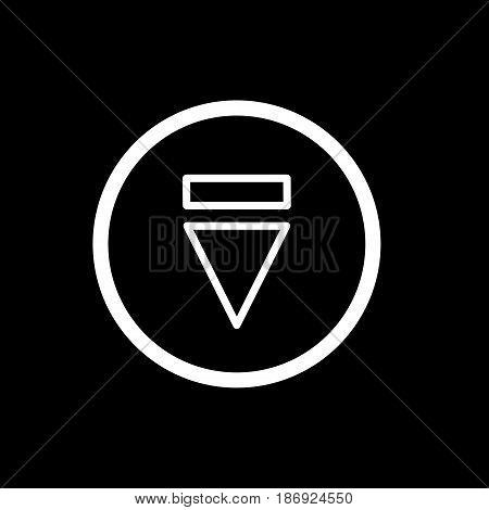 eject button icon. simple outline reject button vector icon. on black background. eps 10