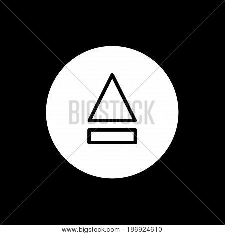 eject button icon. simple solid eject button vector icon. on black background. eps 10
