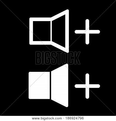 Volume high line icon. vector design. eps 10