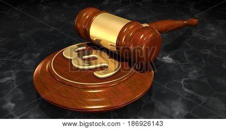 Section Symbol Law Concept 3D Illustration