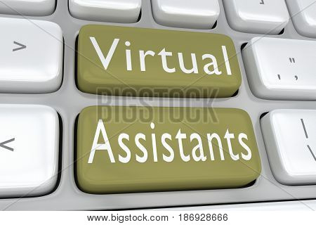 Virtual Assistants Concept