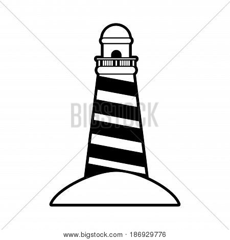 Red striped island ocean vector ilustration imagen icon