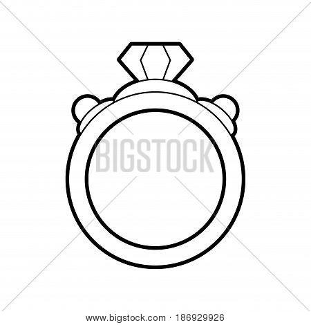 sketch silhouette image diamond engagement ring vector illustration