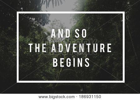 Adventure travel nature destination exploring