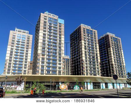 Almaty - Buildings Along Al-farabi