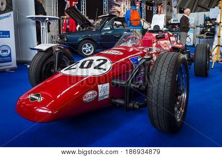 STUTTGART GERMANY - MARCH 03 2017: Formula Vee racing car (1965-1973). Europe's greatest classic car exhibition