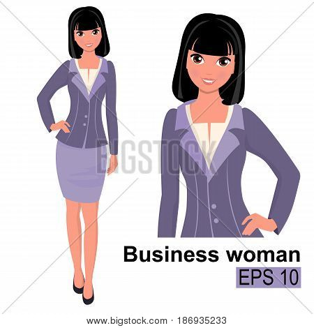 Stock-vector-young-cartoon-businesswoman-standing-making-the-presentation-beautiful-girls.eps